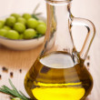 Stock Photo: Olive oil and olives
