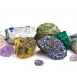 colección de minerales aislados — Foto de Stock