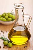 Olijfolie en olijven — Stockfoto