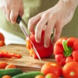 Man cutting vegetables — Stock Photo #6207771