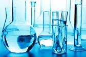 Chemical laboratory glassware — Stock Photo