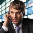 Businessman talking on mobile phone — Stock Photo #5441486