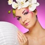 Beautiful woman with creative make-up — Stock Photo #5441572
