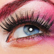 Make-up of a beautiful woman eye — Stock Photo