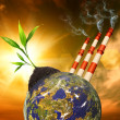 Planet pollution — Stock Photo