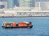 Foto de un buque de carga — Foto de Stock