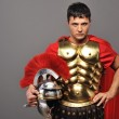 Portrait of a roman legionary soldier — Stock Photo #5517822