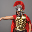 Angry legionary soldier — Stock Photo
