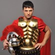Portrait of a roman legionary soldier — Stock Photo #5517842