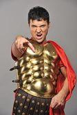 Portrait of a roman legionary soldier — Stock Photo