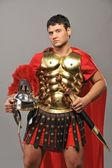 Portrait of a legionary soldier — Stock Photo
