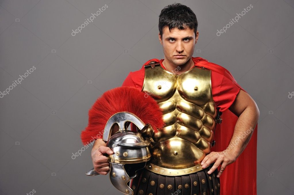 Portrait of a roman legionary soldier  Stock Photo #5517822