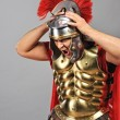 Stock Photo: Screaming legionary soldier
