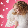 Stock Photo: Beautiful little angel girl