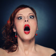 Screaming attractive redhead woman — Stock Photo