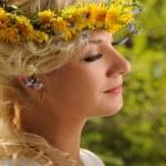 Close-up portrait of a beautiful woman — Stock Photo