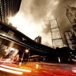 Geceleri hızlı taşıma arabaları — Stok fotoğraf