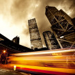Fast moving bus at night — Stock Photo #5812780
