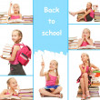 Back to school collage — Stockfoto