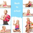 Back to school collage — Stock fotografie