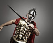 Legionary soldier ready for a war — Stock Photo