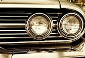 Close-up photo of retro car headlights — Stock Photo