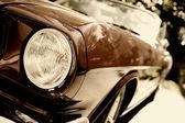 Retro car fragment — Stock Photo