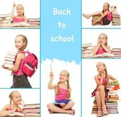 Back to school collage — Stock Photo
