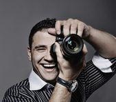 Photographer making a shot — Stock Photo
