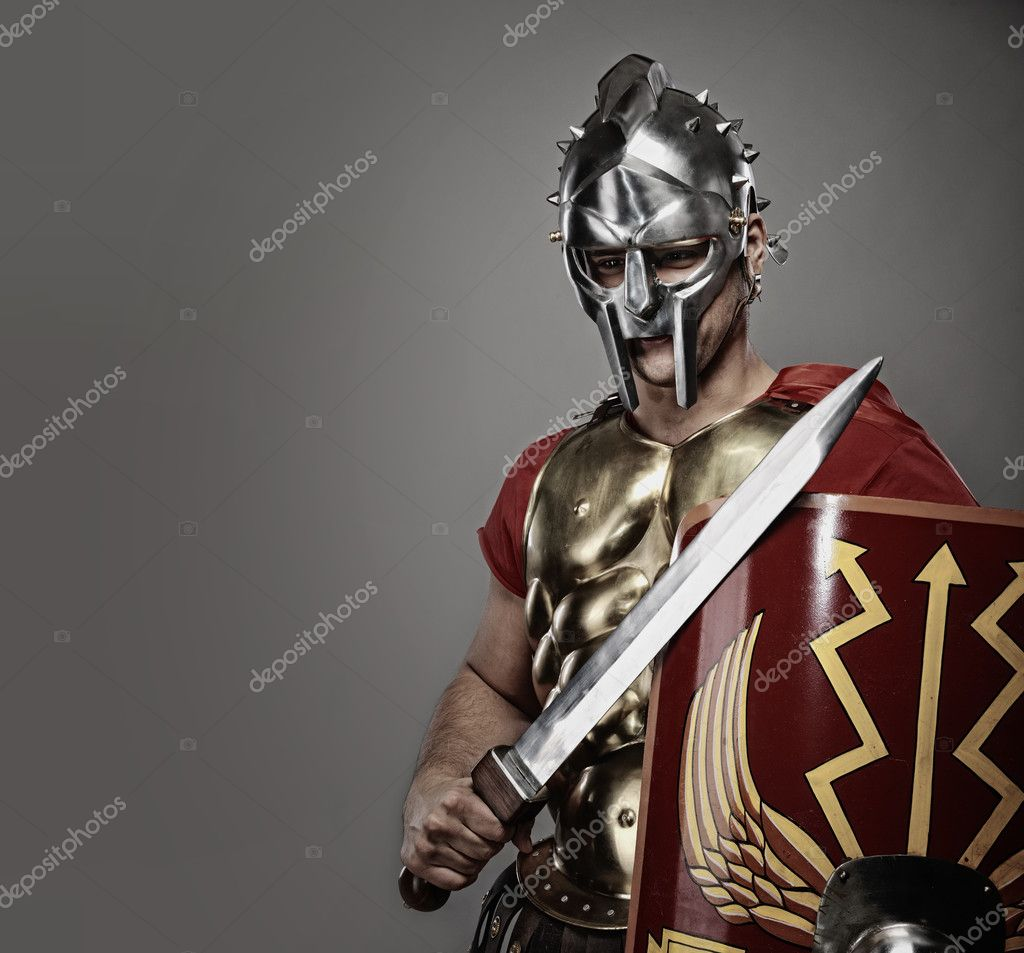 Legionary soldier ready for a war — Stock Photo #5812202