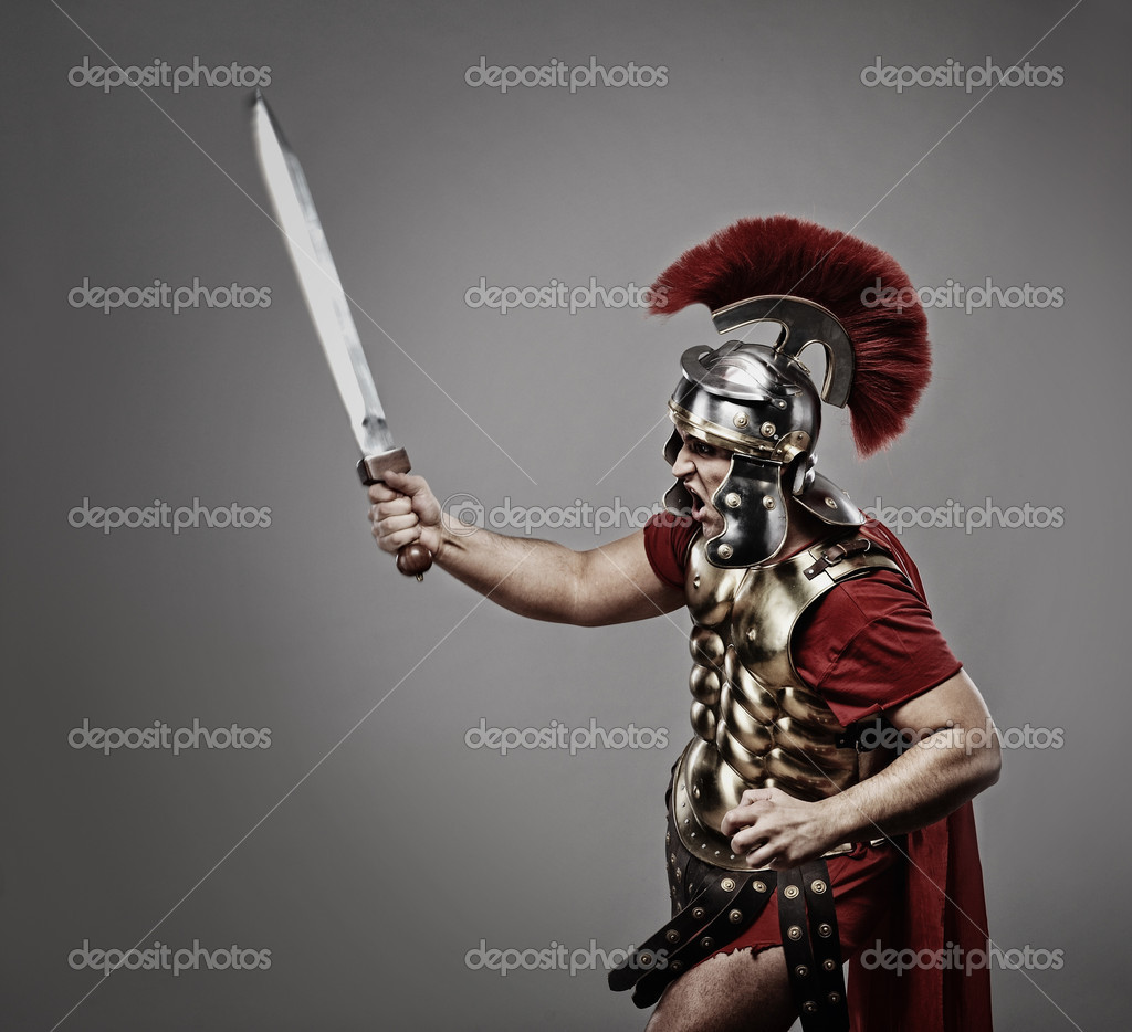 Legionary soldier ready for a war — Stockfoto #5812229