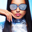 Brunette womin stylish sunglasses — Stock Photo #5868379