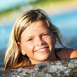 Stockfoto: Happy girl in the water