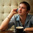 Casual man talking on the phone — Stock Photo