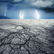 Storm in desert — Stock Photo