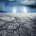 Burza w pustyni — Zdjęcie stockowe