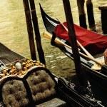 Traditional Venice gandola ride — Stock Photo