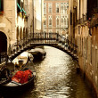 Traditional Venice gandola ride — 图库照片