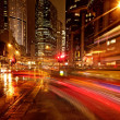 Fast moving cars at night — Stock Photo #5893689
