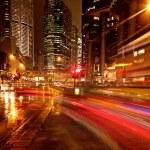 automobili movimento veloce di notte — Foto Stock