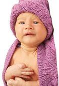 Porträtt av en ledsen bebis — Stockfoto