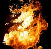 Fire explosion — Stock Photo