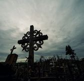 The hill of the crosses — Stock Photo