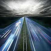 Traffic at night — Stock Photo