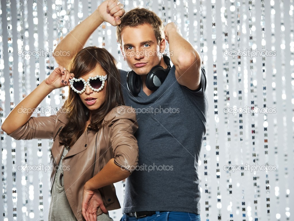 Stylish couple dancing in the nightclub — Stock Photo #5893788