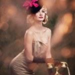Lovely woman retro portrait — Stock Photo #6228467