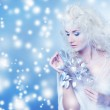 Snow queen with a magic twig — Stock Photo #6228703