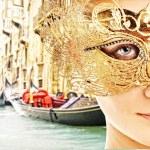 Traditional Venice gandola ride — Stock Photo #6228706
