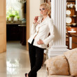 Stylish woman in luxury interior — Stock Photo #6229045