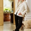 Stylish woman in luxury interior — Stock Photo #6229048